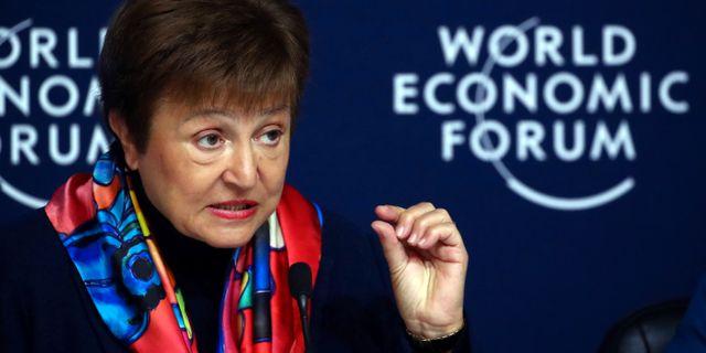 IMF-chefen Kristalina Georgieva.  DENIS BALIBOUSE / TT NYHETSBYRÅN