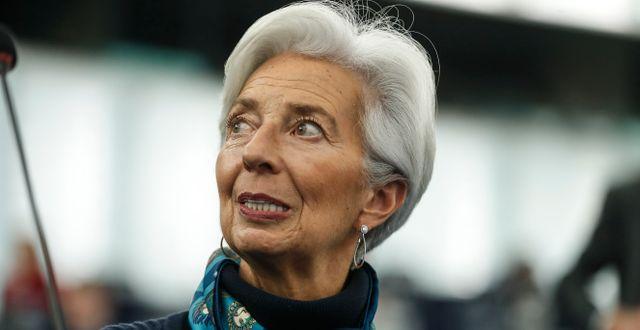 ECB-chefen Christine Lagarde. Jean-François Badias / TT NYHETSBYRÅN