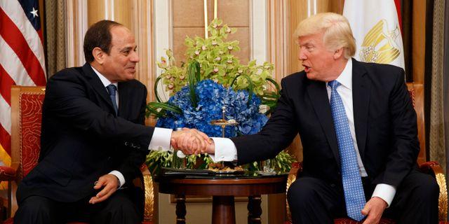 al-Sisi och Trump vid ett möte 2017. Evan Vucci / TT / NTB Scanpix