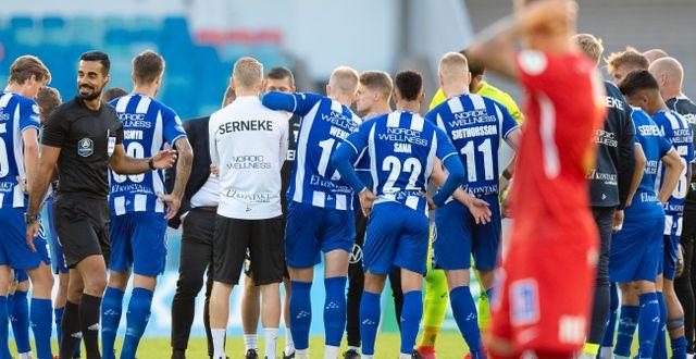 Besvikna IFK Göteborg-spelare på Ullevi MICHAEL ERICHSEN / BILDBYRÅN
