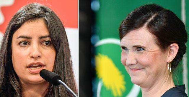 Nooshi Dadgostar och Märta Stenevi.  TT
