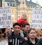 Demonstration för ensamkommande unga och barn i Stockholm/Arkivbild. Anna Karolina Eriksson/TT / TT NYHETSBYRÅN