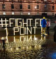 Arkivbild från 2020. Klimatrörelsen Fridays for future uppmärksammar att det gått fem år sedan Parisavtalet undertecknades. Jonas Ekströmer/TT / TT NYHETSBYRÅN