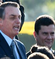 Jair Bolsonaro och justitieminister Sergio Moro. EVARISTO SA / AFP