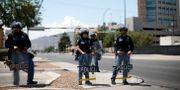 Poliser i El Paso.  Andres Leighton / TT NYHETSBYRÅN/ NTB Scanpix