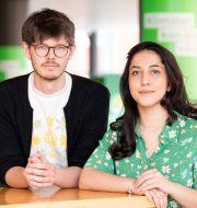 David Ling och Aida Badeli, språkrör i Grön ungdom.  Henrik Montgomery/TT / TT NYHETSBYRÅN