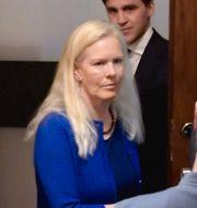 Anna Lindstedt i samband med rättegången. Janerik Henriksson/TT / TT NYHETSBYRÅN