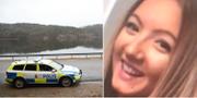 Polis vid sökandet/Wilma Andersson.  TT/PRIVAT