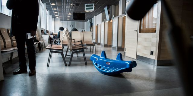 Väntsal för asylsökande på Migrationsverket i Malmö. Marcus Ericsson/TT / TT NYHETSBYRÅN
