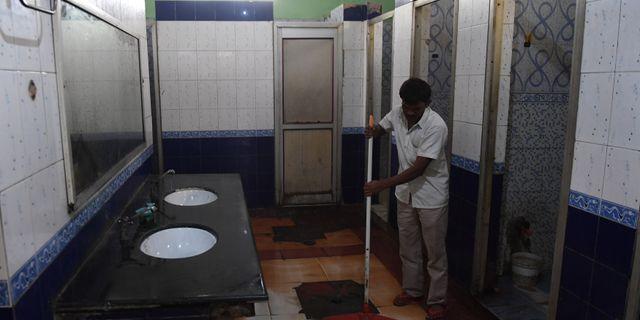 En offentlig toalett i staden Ghaziabad PRAKASH SINGH / AFP