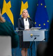 Finansminister Magdalena Andersson på en pressträff. Illustrationsbild.  Ali Lorstani/TT / TT NYHETSBYRÅN