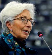 ECB-chefen Christine Lagarde. Vincent Kessler / TT NYHETSBYRÅN