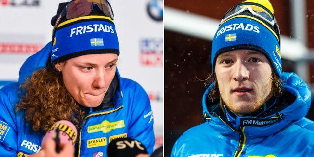 Hanna Öberg och Sebastian Samuelsson.  Bildbyrån.