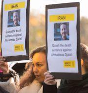 Utrikesminister Ann Linde, demonstration för Djalali. Arkivbilder.  TT