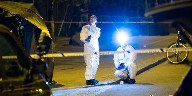 Utredare arbetar efter sommarens mord. Johan Nilsson/TT / TT NYHETSBYRÅN