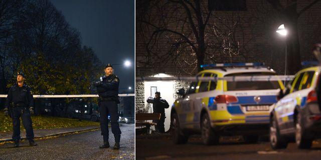 Två personer hittades skjutna i Hallonbergen. TT