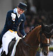 Patrik Kittel med hästen Well Done.  Pontus Lundahl/TT / TT NYHETSBYRÅN