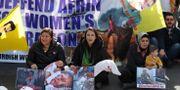 Protester mot Turkiets attacker i Afrin hölls i London tidigare i mars. DANIEL LEAL-OLIVAS / AFP
