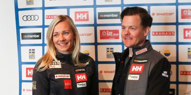 Frida Hansdotter och Mattias Hargin. CHRISTIAN WALGRAM / BILDBYRÅN