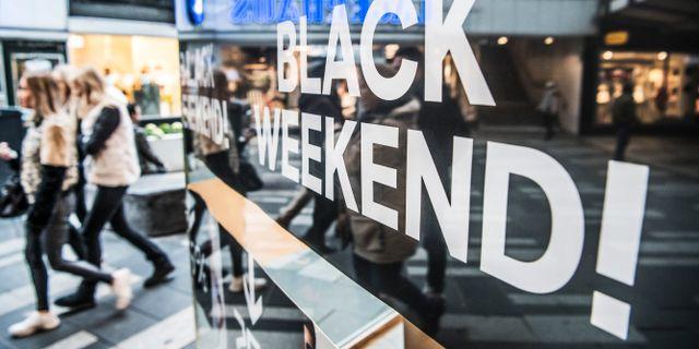 Black Friday förra året. Arkivbild. Tomas Oneborg/SvD/TT / TT NYHETSBYRÅN