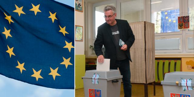 Jan Zahradil, en av kandidaterna till posten om EU-kommissionens ordförande, lägger sin röst. TT