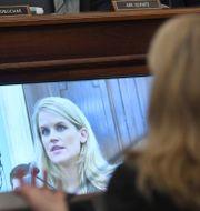 Tidigare Facebookanställda Frances Haugen talar inför den amerikanska senaten Matt McClain / TT NYHETSBYRÅN
