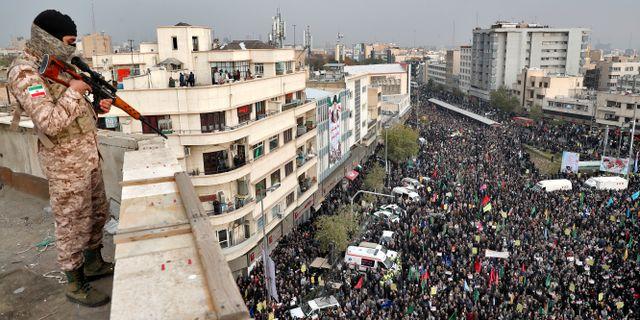 Demonstration i Iran/Arkivbild.  Ebrahim Noroozi / TT NYHETSBYRÅN