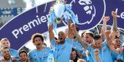 Manchester City firar PL-titeln i helgen.  TOBY MELVILLE / BILDBYRÅN