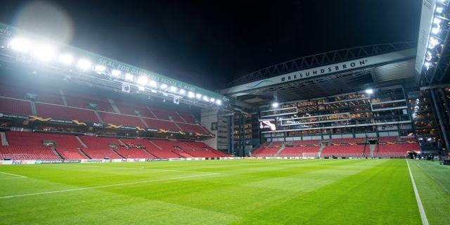 Fotbollsarenan Parken i Köpenhamn.  CARL SANDIN / BILDBYRÅN