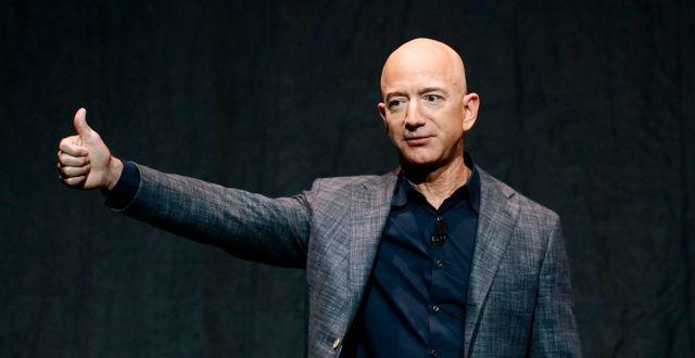 Jeff Bezos. Arkivbild. Patrick Semansky / TT NYHETSBYRÅN