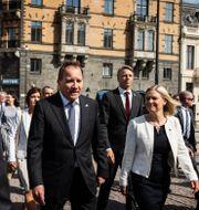 Stefan Löfven inför måndagens misstroendeomröstning.  Nils Petter Nilsson / TT / TT NYHETSBYRÅN