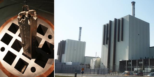 En kapsel för att förvara använt kärnbränsle i koppar och kärnkraftverket Forsmark/arkivbilder, TT