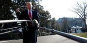 Donald Trump utanför Vita huset.  LEAH MILLIS / TT NYHETSBYRÅN