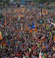 Protestmarsch i Barcelona.   Manu Fernandez / TT NYHETSBYRÅN