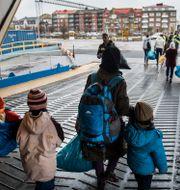Flyktingar anländer till Trelleborg med TT-Line färjan från Rostock. Marcus Ericsson/TT / TT NYHETSBYRÅN