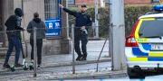 Polisen i arbete på platsen.  Johan Nilsson/TT / TT NYHETSBYRÅN