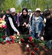 Elvira Ignatievas begravning Dmitri Lovetsky / TT NYHETSBYRÅN