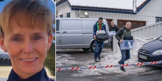 Laila Anita Bertheussen/polisen vid deras hem. VG/TT