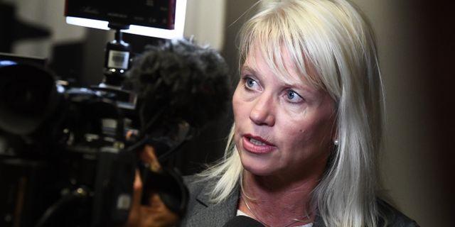 Carina Wutzler (M), kommunstyrelsens ordförande i Vellinge.  Johan Nilsson/TT / TT NYHETSBYRÅN