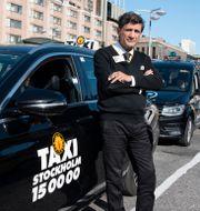 Mehdi Fard, taxichaufför i centrala Stockholm. Amir Nabizadeh/TT / TT NYHETSBYRÅN