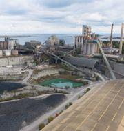 Cementas fabrik och kalkbrott i Slite på Gotland.  Fredrik Sandberg/TT / TT NYHETSBYRÅN