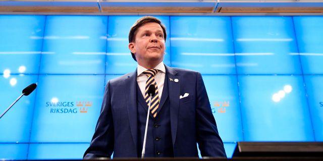 Andreas Norlén på pressträffen. Stina Stjernkvist/TT / TT NYHETSBYRÅN