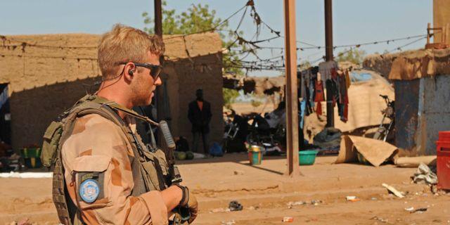 Svensk FN-soldat i Mali. Arkivbild. Richard Kjaergaard/Försvarsmakten / TT NYHETSBYRÅN