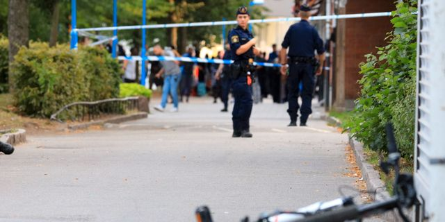 Bild från brottsplatsen Dennis Glennklev/TT / TT NYHETSBYRÅN