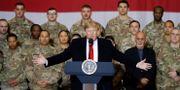 Trump vid Bagram Air Base i Afghanistan. TOM BRENNER / TT NYHETSBYRÅN
