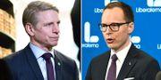 Per Bolund (MP) och Mats Persson (L).  TT