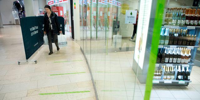 Systembolagets nya golvmarkeringar Jessica Gow/TT / TT NYHETSBYRÅN