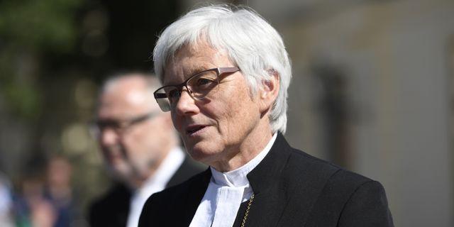 Ärkebiskop Antje Jackelén.  Henrik Montgomery/TT / TT NYHETSBYRÅN