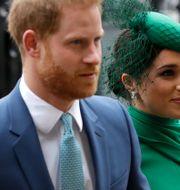 Prins Harry och Meghan Markle/Arkivbild.  Kirsty Wigglesworth / TT NYHETSBYRÅN