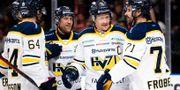 HV71 firar. CARL SANDIN / BILDBYRÅN